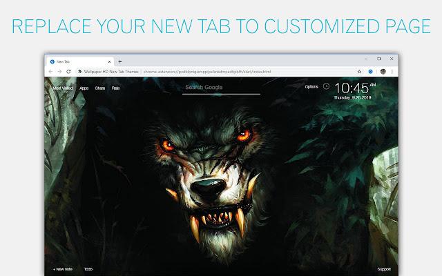 Werewolf Wallpapers Werewolves Custom New Tab