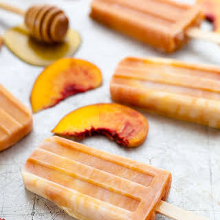 Roasted Peaches And Cream Popsicles.
