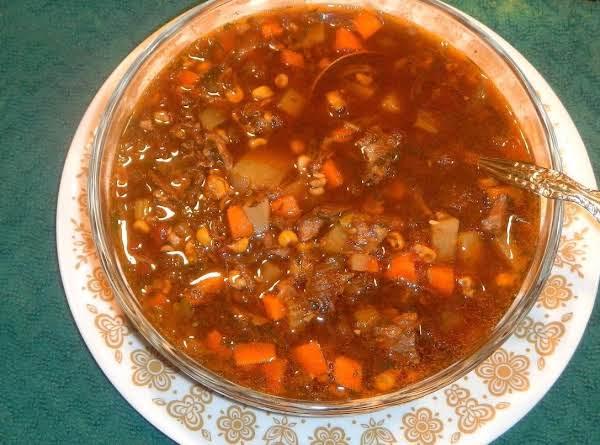 Eeef Bones Vegetable Soup
