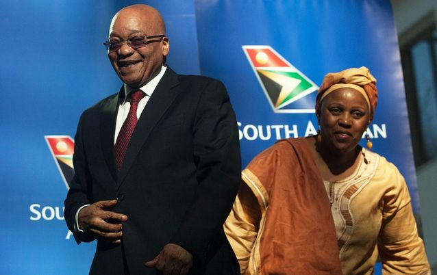 Former president Jacob Zuma and ex-SAA board chairperson Dudu Myeni.