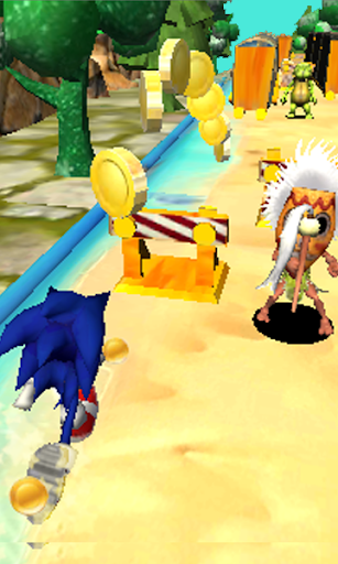 Blue Hedgehog Run : Dash Adventure android2mod screenshots 3