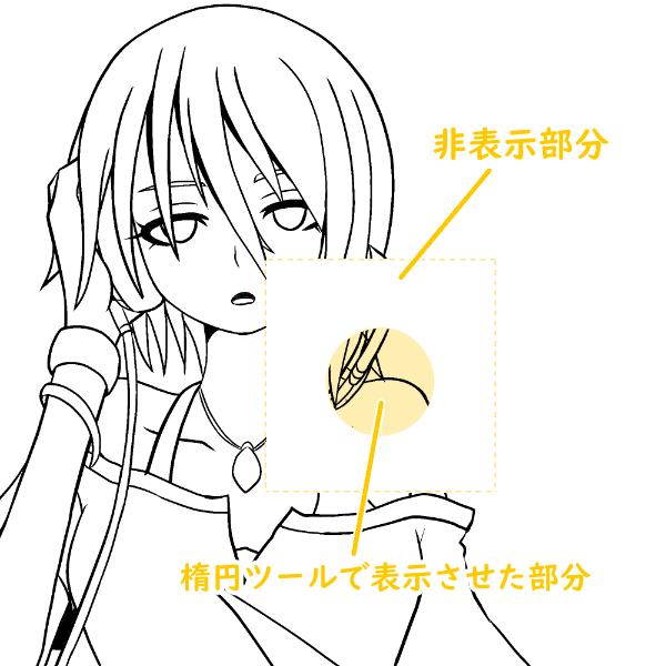 クリスタ:レイヤーマスク(図形ツール)