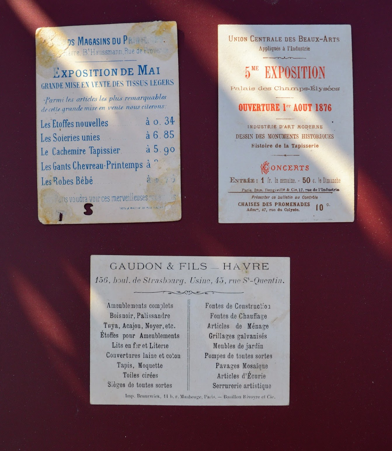 Stuhlkarten - Ticket du chaise