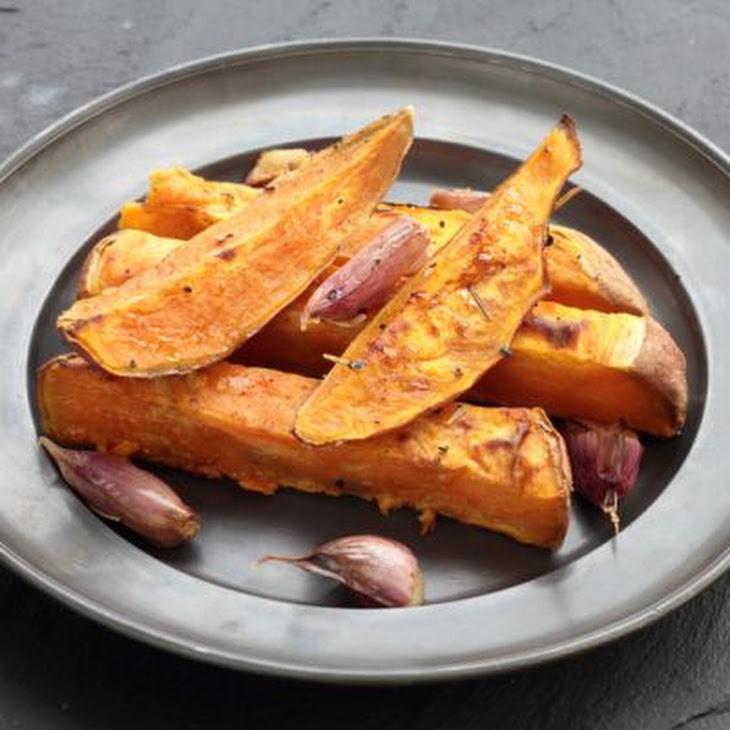 Roasted Cinnamon Sweet Potato Wedges Recipe   Yummly