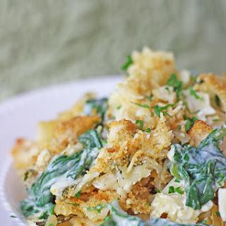 Spinach Artichoke Dip Pasta Bake