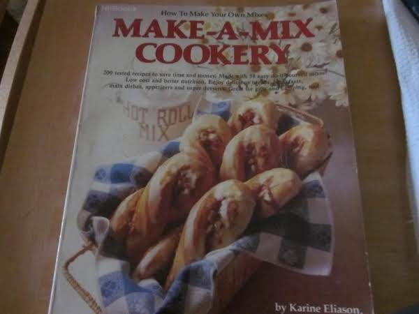 This Is The Make A Mix Cookery Cookbook Out Of Which I Got This Easy And Yummy Recipe.  I Enjoy Pancakes More Often Since I Only Have To Add Liquid Ingredients To The Mix.  I Always Have It On Hand.