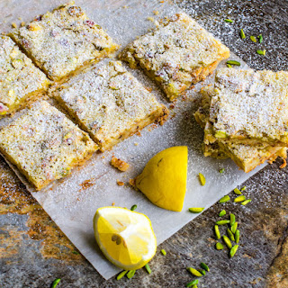 Pistachio Lemon Bar with Sea Salt