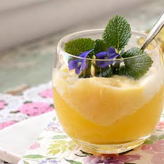 Prosecco Pineapple Sorbet Float.