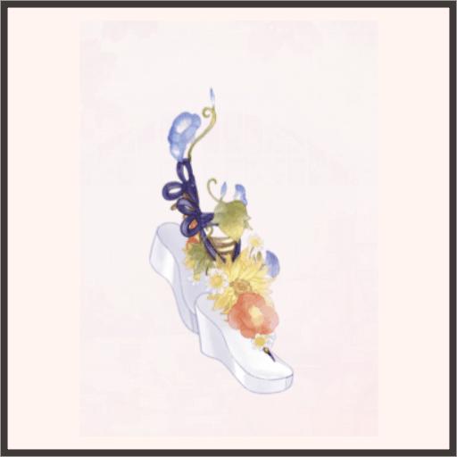 花のサンダル
