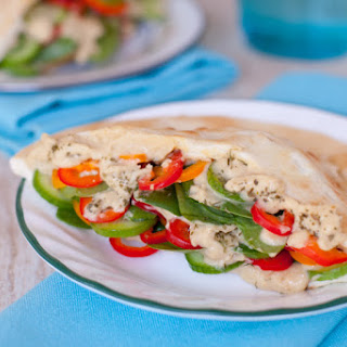 Simple Vegetarian Pita Sandwiches.
