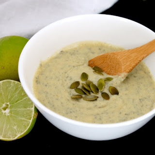 Low Carb Vegan Coconut Lime Noatmeal (nut free, soy free, low-FODMAP).