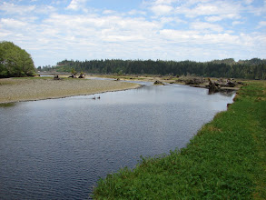 Photo: View of the Quatse River from the Sunny Sanctuary campground.