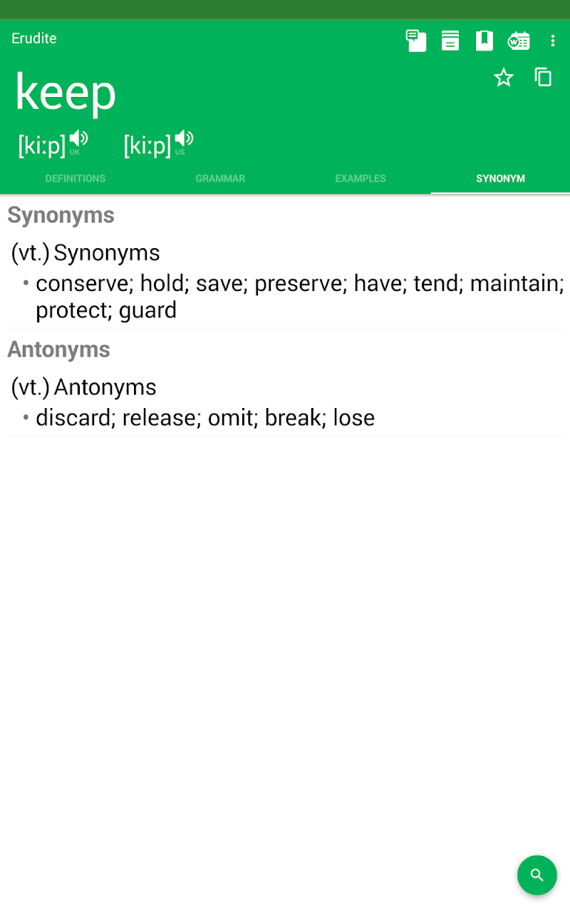 Erudite Dictionary, Translator & Widget Screenshot 17