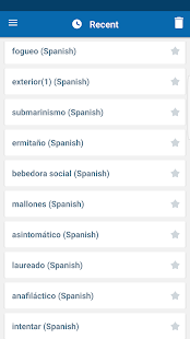 Oxford Spanish Dictionary Screenshot