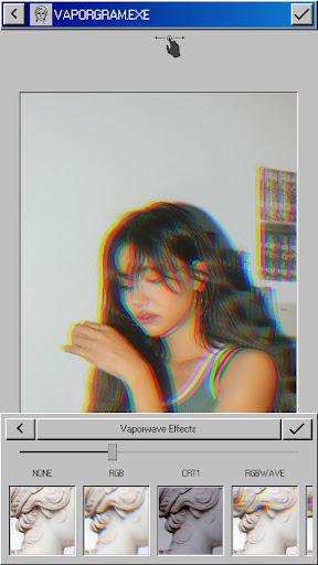 Vaporgram Pro ud83cudf34: Vaporwave & Glitch Photo Editor screenshots 1