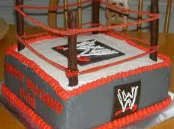 Awesome Wwe Birthday Cake And Party Idea Just A Pinch Recipes Funny Birthday Cards Online Alyptdamsfinfo