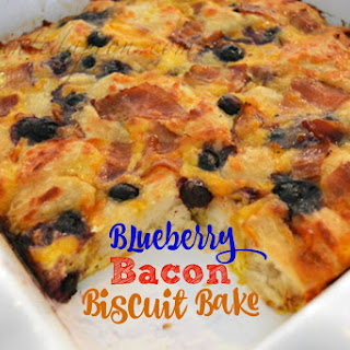 Blueberry Bacon Biscuit Bake.