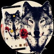 Tattoo Rose Romantic Wolf Theme