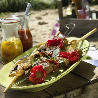 Lamb and Chicken Skewers.