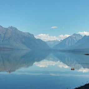 Morning in Glacier Majesty by Denise Parker - Landscapes Mountains & Hills ( mountains, lakes,  )