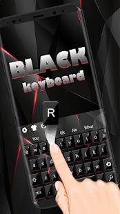 Stylová černá klávesnice - náhled