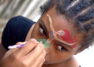 Photo: Little Mermaid face paint by Teressa, Irvine, Ca.Call to booked Teressa for your next event: 888-750-7024