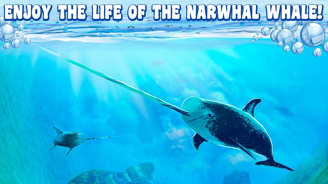 Narwhal simulator 3d android apps on google play for Real life fishing games