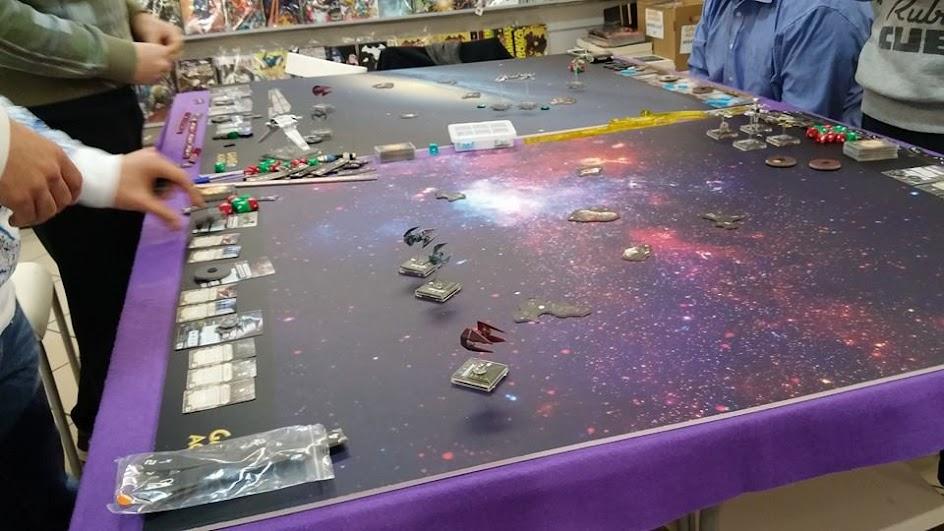 I tavoli predisposti da Games Academy Pescara per il 3° Gran Prix di X-Wing