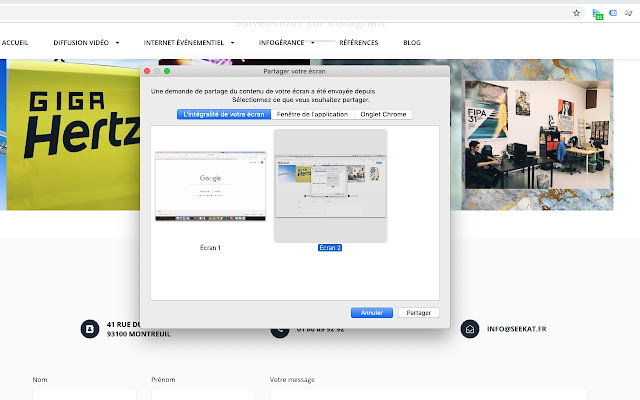 Seekat Qolora Screen Sharing