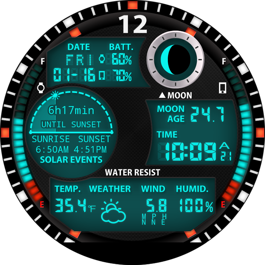 Faces for moto 360 - A47 Watch Face For Moto 360 Screenshot