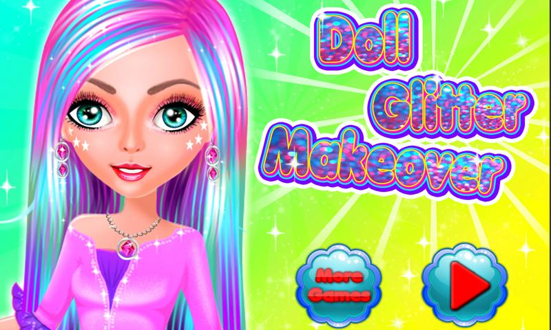 Doll Glitter Makeover- screenshot
