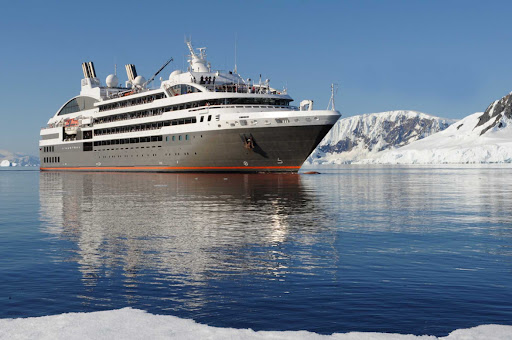 laustral.jpg - The 264-passenger L'Austral from Ponant offers comfortable sailings to Antarctica and the Arctic regions.