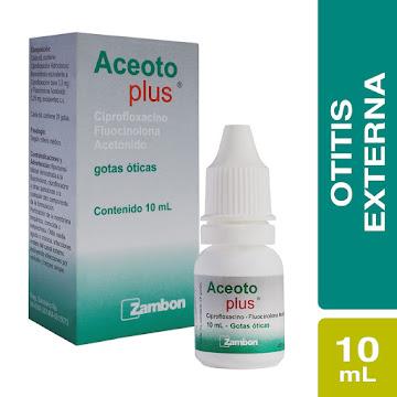 Aceoto Plus Gotas Frasco   X10Ml. Zambon Ciprofloxacino Fluocinolona