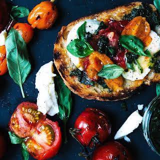 Char-grilled Tomato Bruschetta.