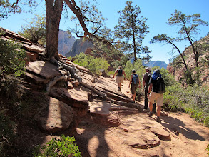 Photo: Beginning the .05 mile out to Angel's Landing...