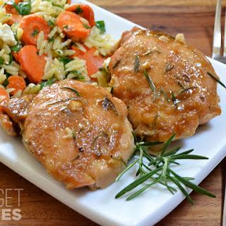Maple Dijon Chicken Thighs.