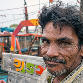 by Sudhir Chandra - People Portraits of Men