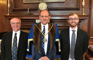 New Apprentice Alexander Plowman with the Master and his Apprentice Master 18 July 2019