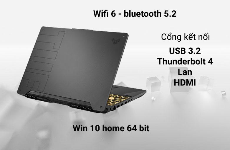 Laptop ASUS TUF Gaming FX506HC-HN002T 90NR0723-M01410 | Kết nối chuẩn thế hệ mới