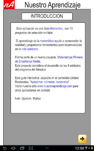 Racionales  aproximar 1.0.0 screenshots 2
