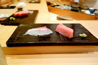Photo: Tai, toro. By now I starting to remember why I was missing high-end sushi so much! Tai had a firm, chewy texture, with a light and very clean taste, as it should, while the toro obviously melted instantly in the mouth, coating it with the unmistakable fatty tuna taste.