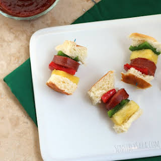 Sausage Skewer Bites with KING'S HAWAIIAN® [AD] #GameTimeGrilling.