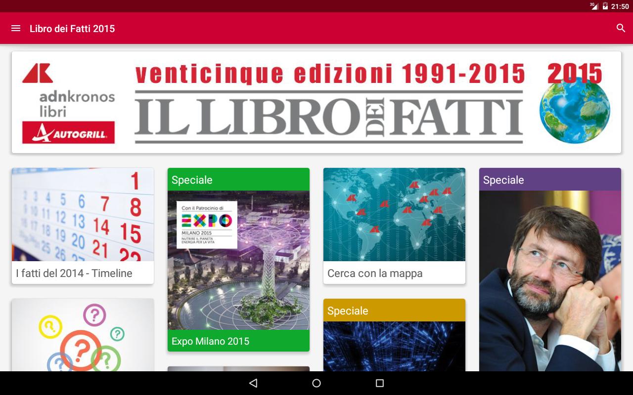 Libro dei Fatti 2015- screenshot
