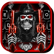 App Skull Fire Guns Keyboard Theme APK for Windows Phone