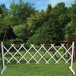 Gard decorativ alb pliabil, 80x200 cm