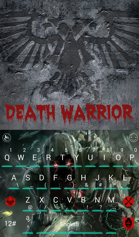 Death Warrior Keyboard Theme – Screenshot