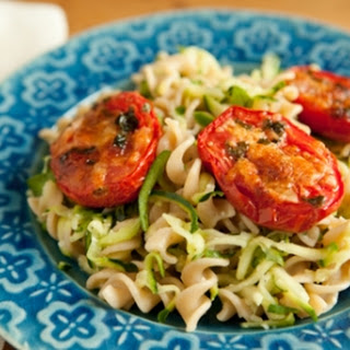 "Fusilli Pasta with Roasted Tomatoes and ""Hidden"" Zucchini"