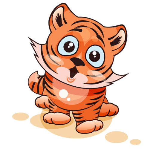Cute Tiger Stickers for WhatsApp, WAStickerApps