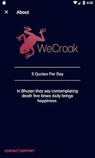 WeCroak - náhled