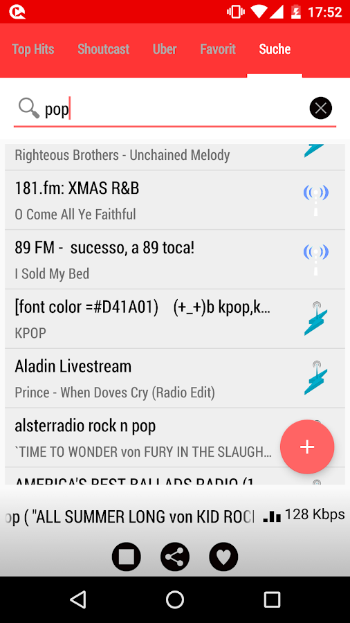 Internet Radio Player – Screenshot